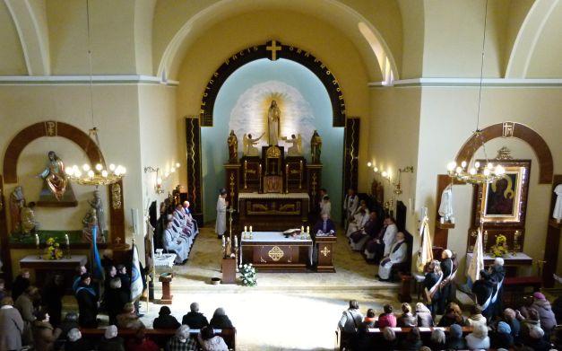 Msza św - widok z chóru